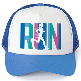 Running Trucker Hat - Run Like A Girl (Simple)