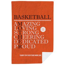 Basketball Premium Blanket - Mother Words