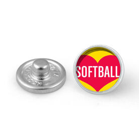 Heart Softball SportSNAPS Charm