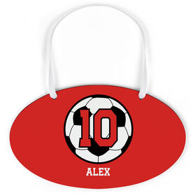Soccer Oval Sign - Personalized Soccer Ball