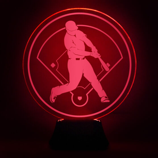 Baseball Acrylic LED Lamp Slugger