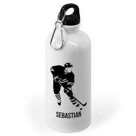Hockey 20 oz. Stainless Steel Water Bottle - Hockey Player Silhouette