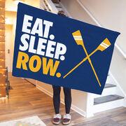 Crew Premium Blanket - Eat. Sleep. Row. Horizontal