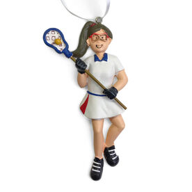 CTS - Lacrosse Player Resin Figure Ornament (Brunette Female)