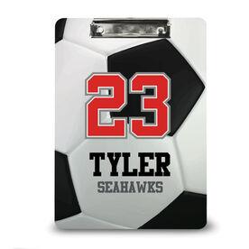 Soccer Custom Clipboard Personalized Soccer Ball