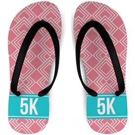 Running Flip Flops Diamond Pattern With Ribbon 5K