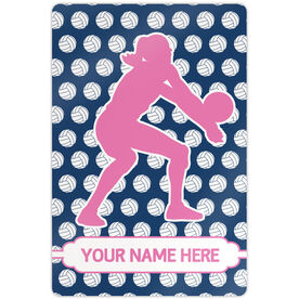 "Volleyball Aluminum Room Sign Personalized Volleyball Player Silhouette Pattern (18"" X 12"")"