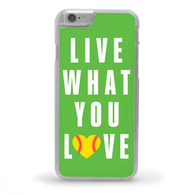 Softball iPhone® Case - Live What You Love