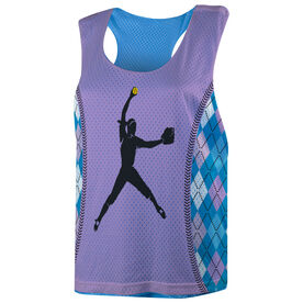 Softball Racerback Pinnie - Pitcher With Argyle