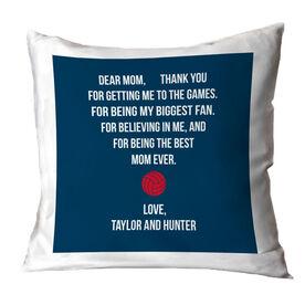 Volleyball Throw Pillow - Dear Mom Heart