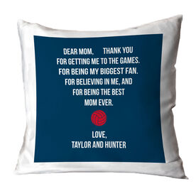 Volleyball Throw Pillow - Dear Mom Heart