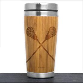 Bamboo Travel Tumbler Lacrosse Guys Crossed Sticks