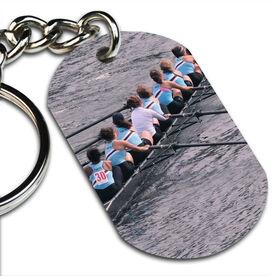 Custom Crew Photo Printed Dog Tag Keychains
