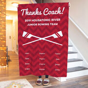 Crew Premium Blanket - Personalized Thanks Coach Chevron