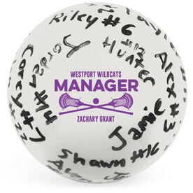 Guys Lacrosse Ball - Manager Autograph