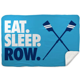 Crew Sherpa Fleece Blanket - Eat. Sleep. Row. Horizontal