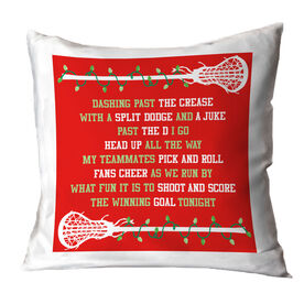 Girls Lacrosse Throw Pillow Players Jingle All The Way