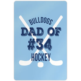 "Hockey Aluminum Room Sign (18""x12"") Personalized Team Hockey Dad Of"
