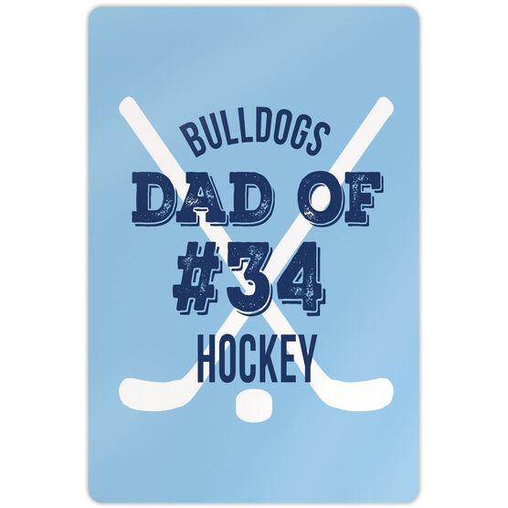 "Hockey Aluminum Room Sign (18""x12"") Personalized Team Hockey Dad Of"