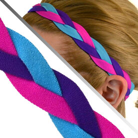 GripBand Headband - Pink Purple Teal