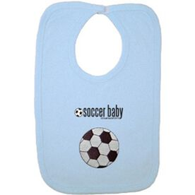 Soccer Baby Bib with Embellishment