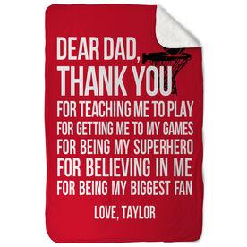 Basketball Sherpa Fleece Blanket - Dear Dad