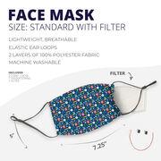 Face Mask - Math Teacher Pattern
