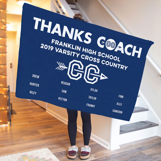 Cross Country Premium Blanket - Thanks Coach (Horizontal)