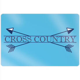 """Cross Country 18"""" X 12"""" Aluminum Room Sign - Crest"""