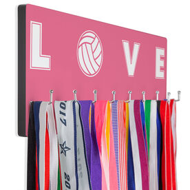 Volleyball Hooked on Medals Hanger - Volleyball Love