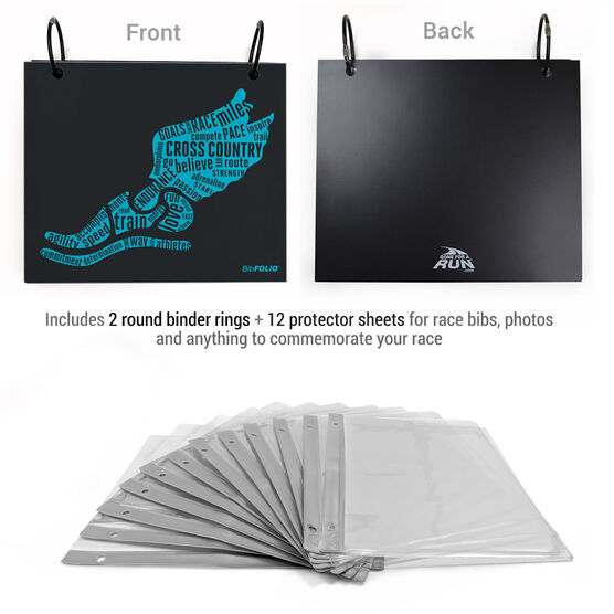 BibFOLIO® Race Bib Album - Inspirational Words Winged Foot