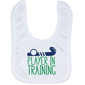 Field Hockey Baby Bib - Player In Training