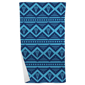 Lacrosse Beach Towel Geometric Lax Pattern