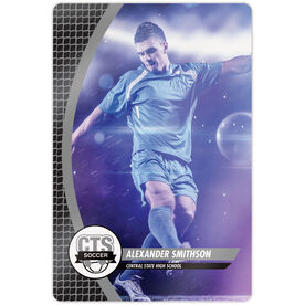 """Soccer 18"""" X 12"""" Aluminum Room Sign - Player Photo With Logo"""