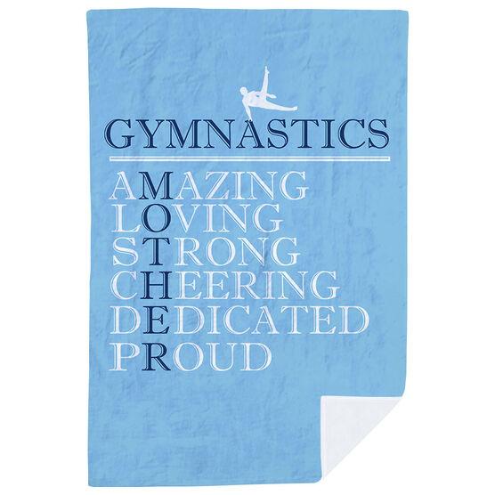 Gymnastics Premium Blanket - Mother Words (Guy Gymnast)