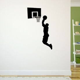 Dunking Basketball Removable ChalkTalkGraphix Wall Decal