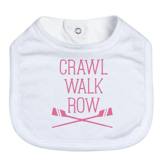 Crew Baby Bib - Crawl Walk Row
