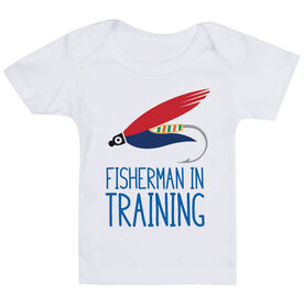 Fly Fishing Baby T-Shirt - Fisherman In Training