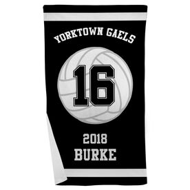 Volleyball Beach Towel Personalized Team