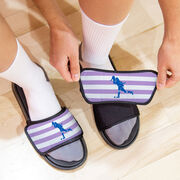 Field Hockey Repwell® Sandal Straps - Stripes with Silhouette