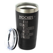 Hockey 20 oz. Double Insulated Tumbler - Hockey Father Words