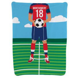 Soccer Baby Blanket - Male Soccer Player