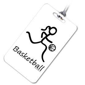 Basketball Bag/Luggage Tag Basketball Girl (Stick Figure)