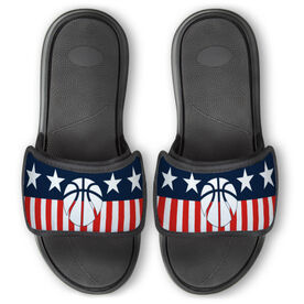 Basketball Repwell™ Slide Sandals - Stars and Stripes