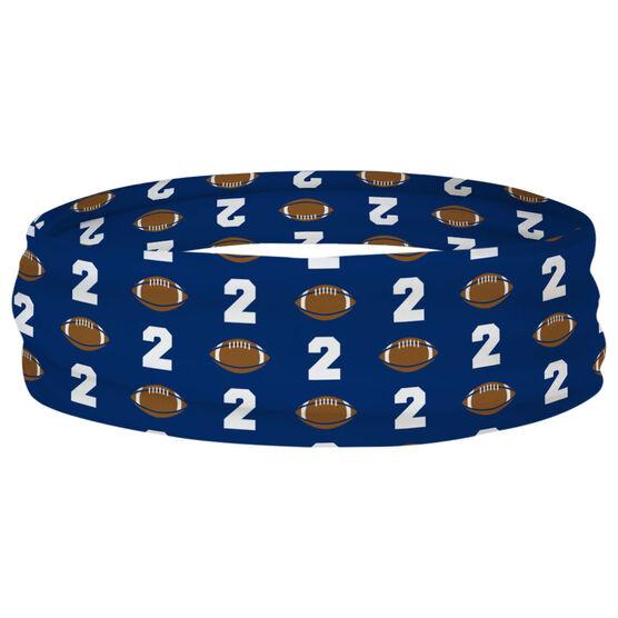 Football Multifunctional Headwear - Custom Team Number Repeat RokBAND
