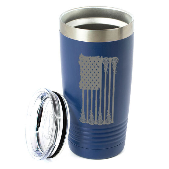 Girls Lacrosse 20 oz. Double Insulated Tumbler - Lax Flag