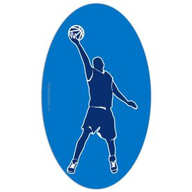 Basketball Oval Car Magnet Basketball Guy