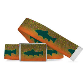 Fly Fishing Lifestyle Belt Brook Trout Silhouette