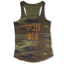 Soccer Camouflage Racerback Tank Top - Soccer Mom Life