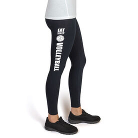 Volleyball High Print Leggings Eat Sleep Volleyball